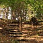 La scalinata del sentiero