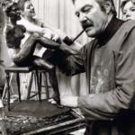 L'Artista al lavoro nel suo studio
