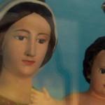 Dettaglio della statua della Madonna della Guardia