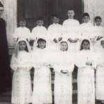 1966 La Prima Comunione con la maestra De Marchi e il compianto don Virginio Foschiani