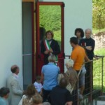 Erano presenti tutte le autorità all'inaugurazione della sala informatica.