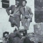 Aldo Moro assieme al fratello Nando e l'amico Pino Plazzotta ( 17 luglio 1938)