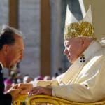 Padre Arnaldo in udienza con papa Giovanni Paolo II