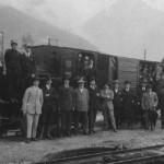1918 - Inaugurazione linea ferroviaria Tolmezzo - Paluzza