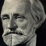 La scultura raffigurante Giuseppe Verdi