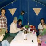Nonostante le fatiche delle camminate, le serate in tenda erano sempre allegre e spensierate.