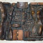 """Rilievo Bronzeo """"Uomo e donna nel mondo meccanizzato"""" - 1978"""