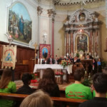 Il coro di Treppo ha accompagnato la cerimonia religiosa.
